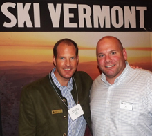 Sam von Trapp, vice president, director of operations, Trapp Family Lodge and P.J. McSparran, senior sales manager, Mount Snow