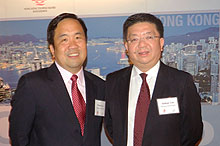Michael Lim, director Canada, Central and South America, HKTB & Anthony Lau, executive director, HKTB