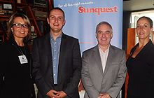Lynn Dergousoff, commercial director, Sunquest; Steve Butchart, vice president, Sunquest; Dean Moore, chief operating officer, Thomas Cook North America & Dawn Rzepka, senior director of sales, Canada, Thomas Cook  Canada