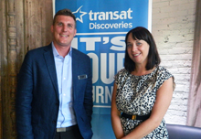 Of Transat Discoveries: Dan Prior, sales director & Sherry Brown,, sales representative, Toronto & Southwestern Ontario