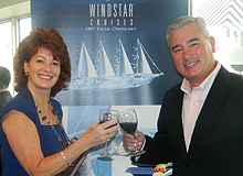 Vanessa Lee, president, Cruise Strategies & Dan Chappelle, vice president, sales, Windstar Cruises