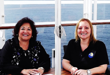Phyllis Fragiorgi, regional sales manager, MSC Cruises (USA) Inc and Aggie Stoduto, product manager, Sunquest and ALBATours