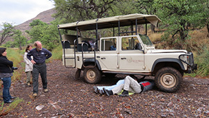 A little car trouble in the bush, but it was no big deal