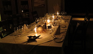 Dinner is set at Wolwedans