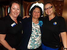 Jennifer Matthews, supervisor, inside sales and training, Thomas Cook; Phyllis Fragiorgi, regional sales manager, MSC Cruises (USA) Inc. & Aggie Stoduto, product manager, Sunquest and ALBATours