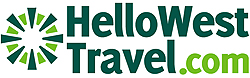 Redesigned logo for HelloWestTravel.com