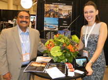 Jana Adamova, sales manager, Luxe Hotels & Daniel Carrillo, director of sales and catering, Sedona Rouge