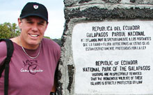 Rick Shaver, founder, Canadian chapter, Travelers' Century Club, at the Galapagos Islands