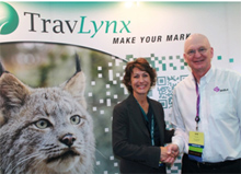 Kristin Intress, president and CEO, TravLynx and Bob Lowe, vice president, business development, Shift4