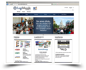 LOGIMONDE MEDIA LAUNCHES CORPORATE WEBSITE