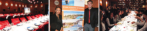 Centre: Marigold Frontuna, area sales manager, Western Canada, & Alex Portman, senior business development manager, Karisma Hotels