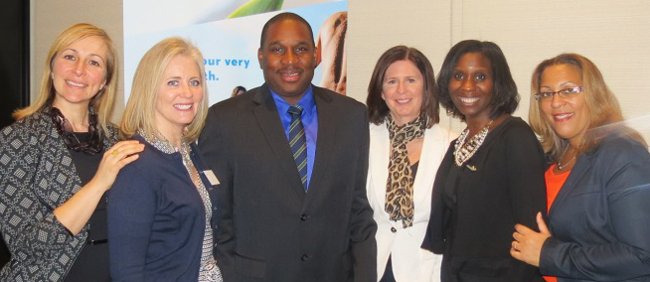 Charlie Agostino, Anse Chastanet; Judy Duncan, The BodyHoliday and Rendezvous; Saint Lucia Director of Tourism, Mr. Louis Lewis; Elaine Carnegie, Anse Chastanet; Alison Theodore, Saint Lucia Manager Canada and Tracey Warner Arnold, Saint Lucia Deputy Director Tourism